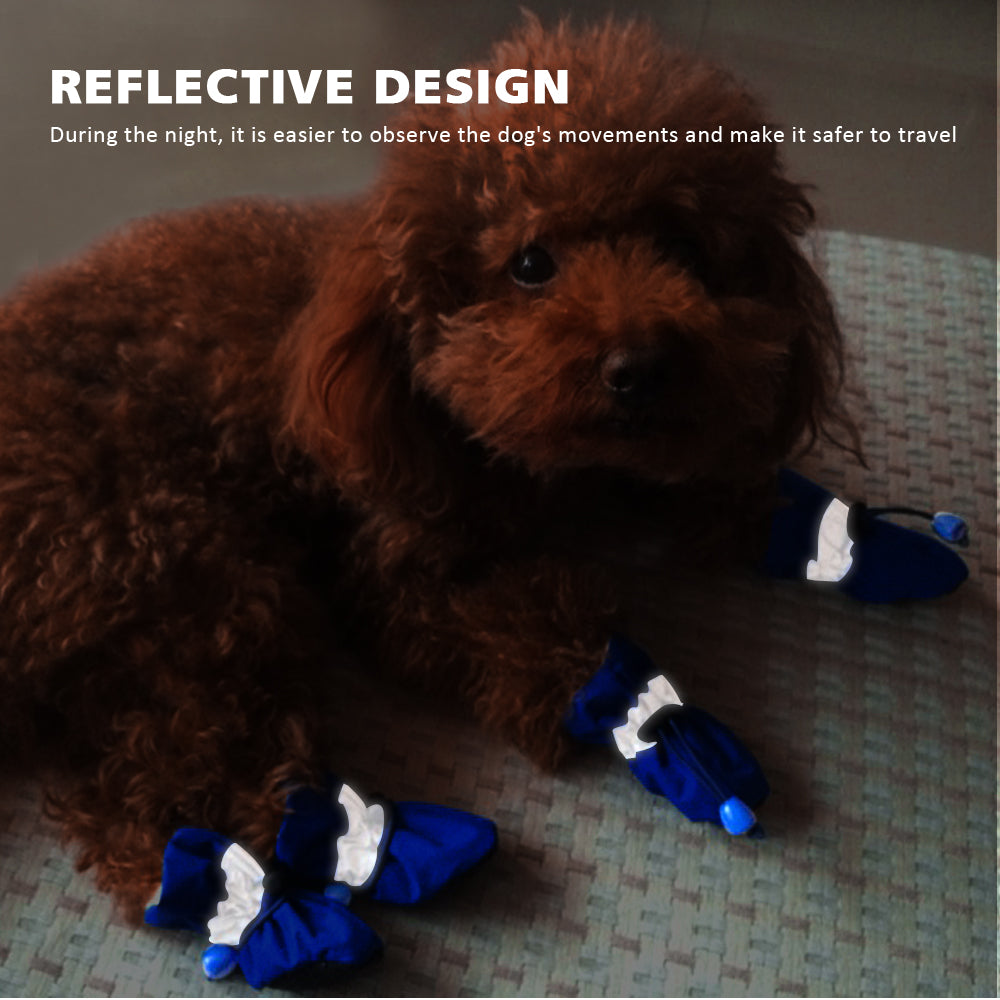 Waterproof Winter Dog Shoes, Anti-slip Rain Snow Boots for Small Breeds