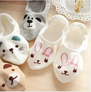 Bear Rabbit Cat Animal Socks - 5 Pairs/Set - boopetclub