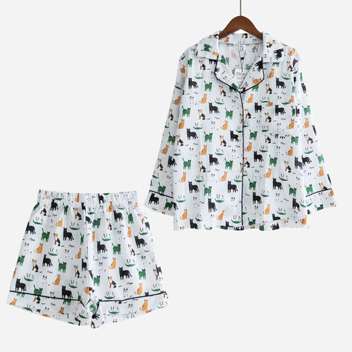 Cute Cats Women Pajamas (Top & Shorts) - boopetclub