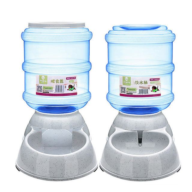 Gravity Automatic Pet Feeder Dog Food and Water Feeder Bowl - 3.5L - boopetclub