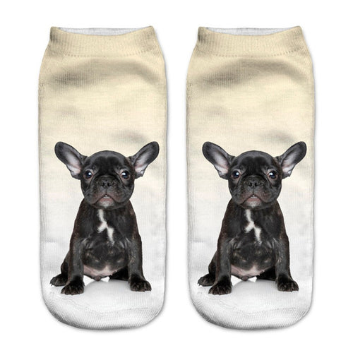 Black French Bulldog Dog Women Socks - boopetclub