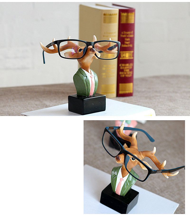 Hipster Deer Eyeglass Holder Resin Accessories Sunglasses Stand Display - boopetclub