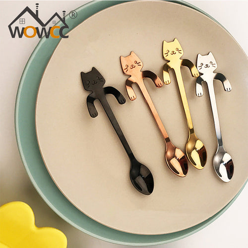Cat Coffee and Tea Spoon Stainless Steel - boopetclub