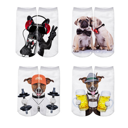 Pug Jack Russell French Bulldog Dog Women Sock Set - 4 pairs - boopetclub