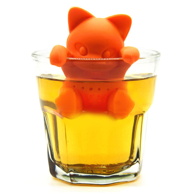 Cat Silicone Tea Infuser Animal Tea Strainer - boopetclub