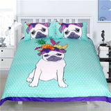 Polka Dot Pug Dog Bedding Set (3 Pieces) - boopetclub