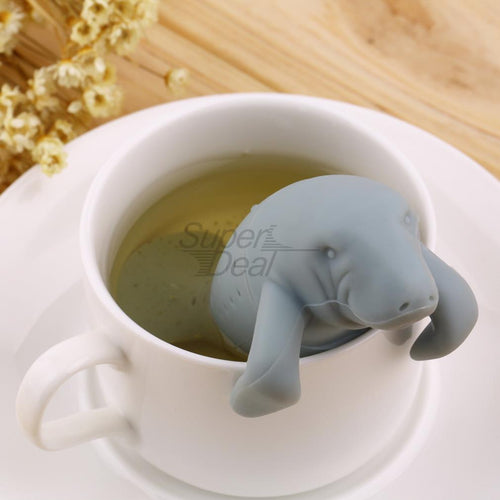 Manatee Silicone Tea Infuser Animal Tea Strainer - boopetclub
