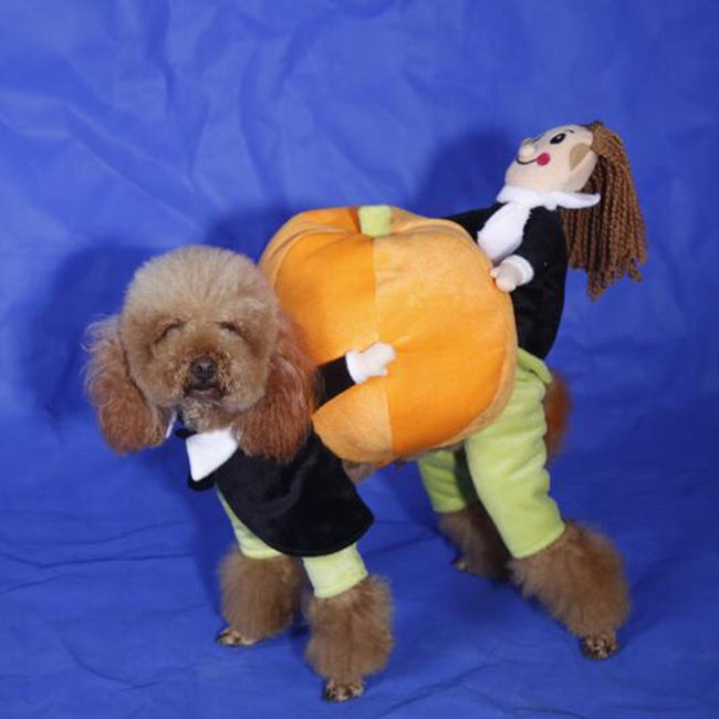 Pumpkin Pet Costume, Dog and Cat Clothes, Dog Halloween Costume - boopetclub