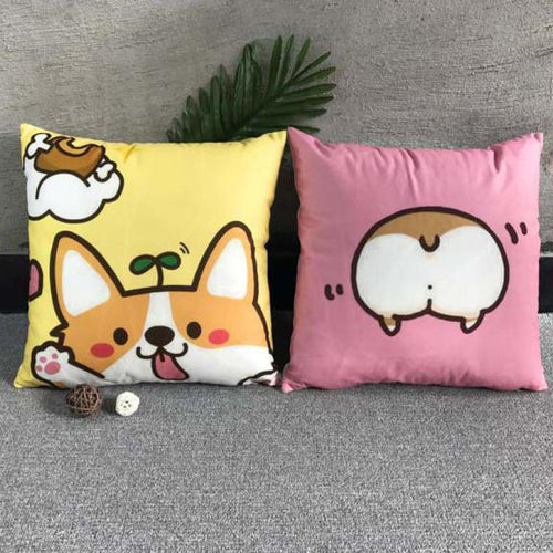 Corgi Butt Pillow Case Cushion Cover - boopetclub