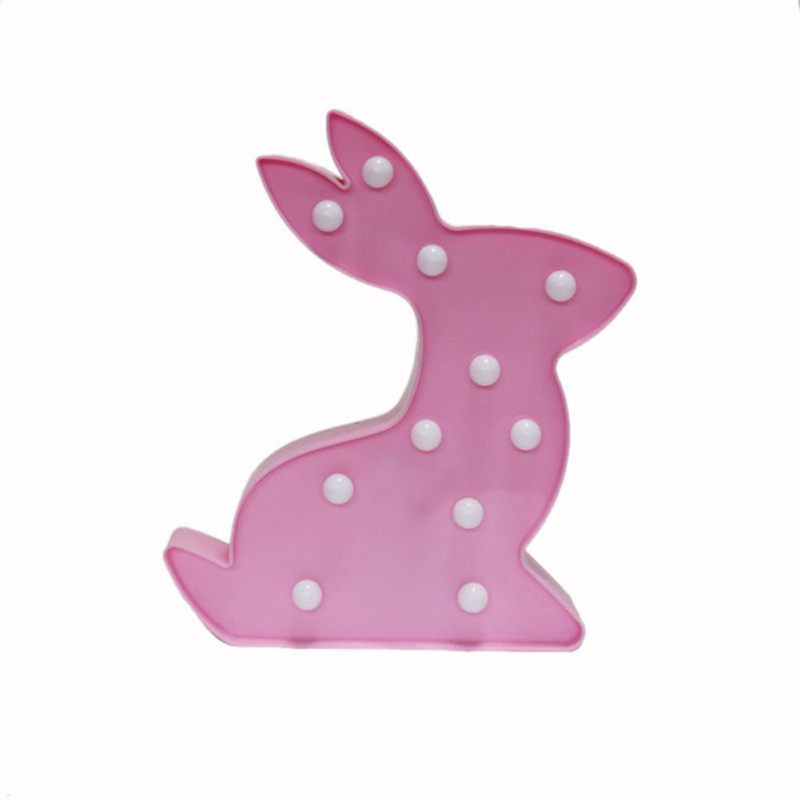 LED Rabbit Bunny Lamp Table Night Light Party Home Decoration - boopetclub