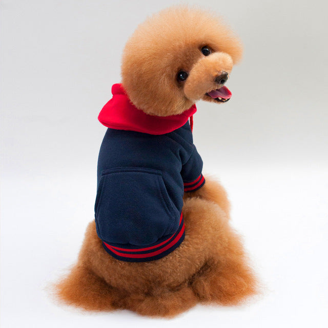Dog Button Hoodie, Dog and Cat Clothes - boopetclub