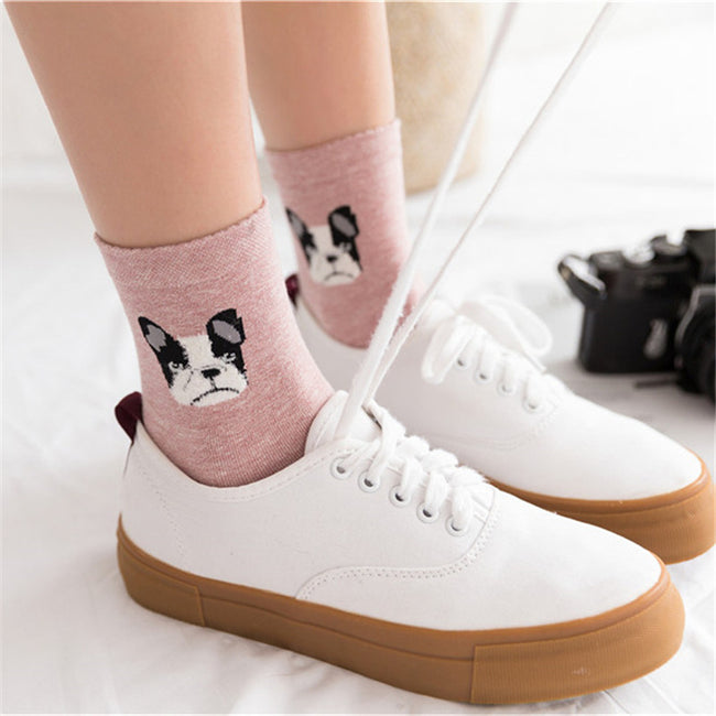 5 Pairs French Bulldog Socks - boopetclub