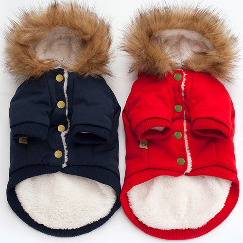 Winter Pet Hoodie, Dog and Cat Clothes