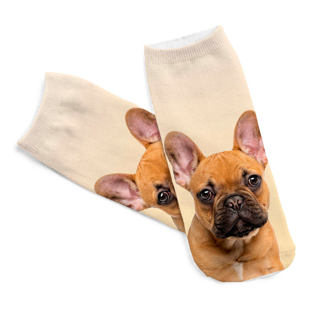 Brown French Bulldog Dog Women Socks - boopetclub