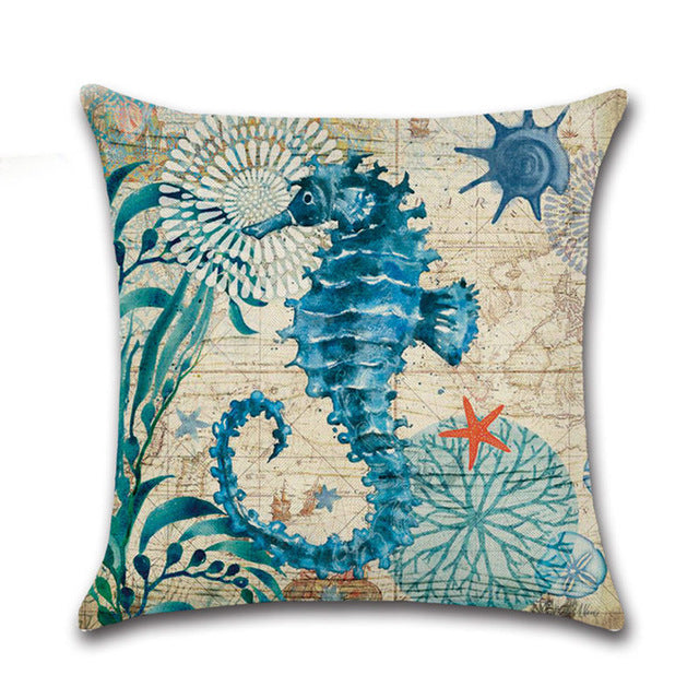 Sea Animal Pillowcase / Sea Creatures Cushion Pillow Case - boopetclub
