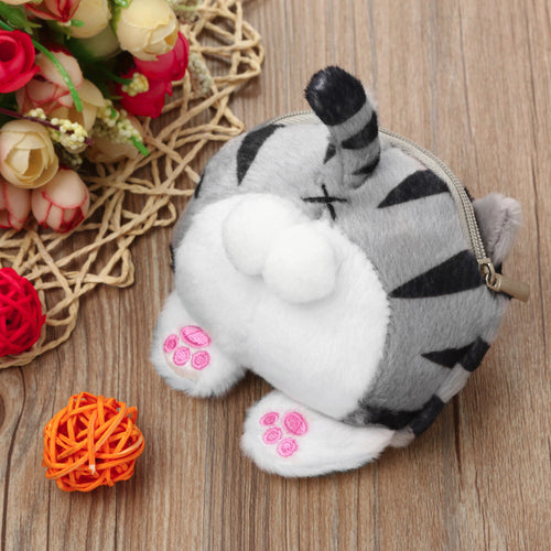 Cat Butt Coin Bag Plush Purse Wallet - boopetclub
