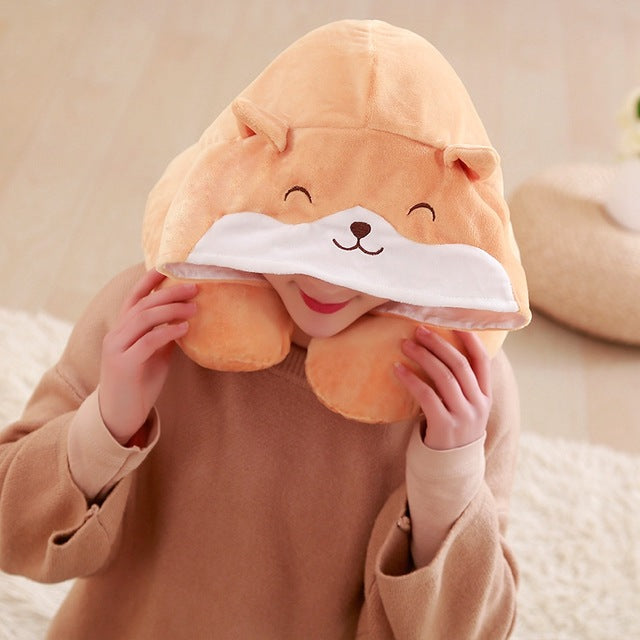 Corgi U Shaped Travel Neck Pillow - boopetclub