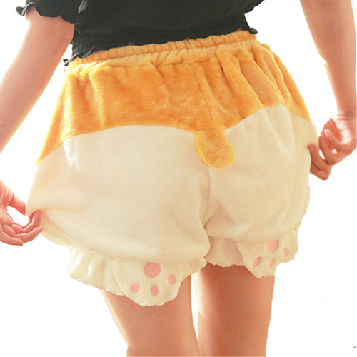 Women Fleece Corgi Hip Shorts - boopetclub