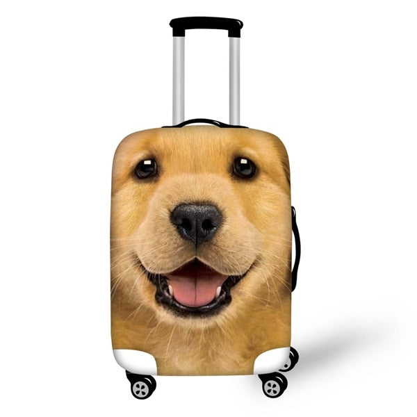 "Golden Retriever Travel Luggage Cover, Suitcase Protector 18""-30"" - boopetclub"