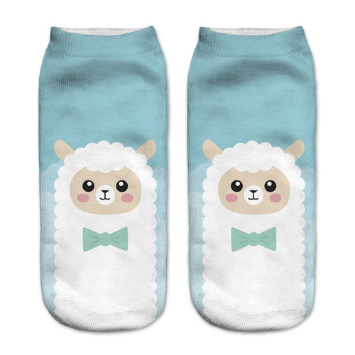 Alpaca Animal Women Socks - boopetclub