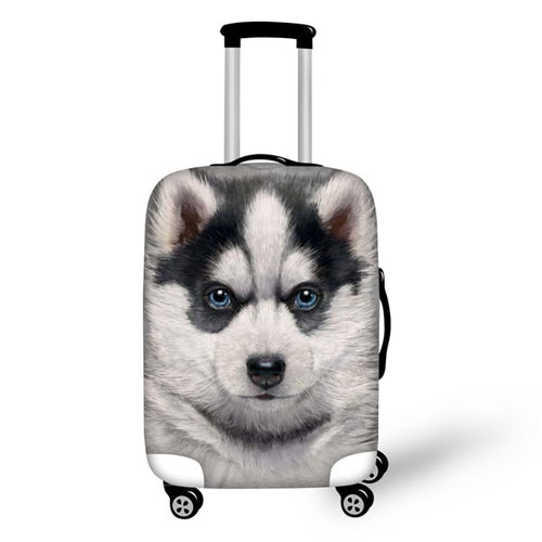"Husky Travel Luggage Cover, Suitcase Protector 18""-30"" - boopetclub"