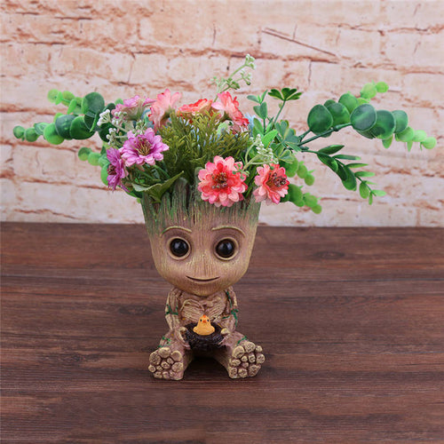 Baby Groot Flower Pot, Pen Holder - boopetclub