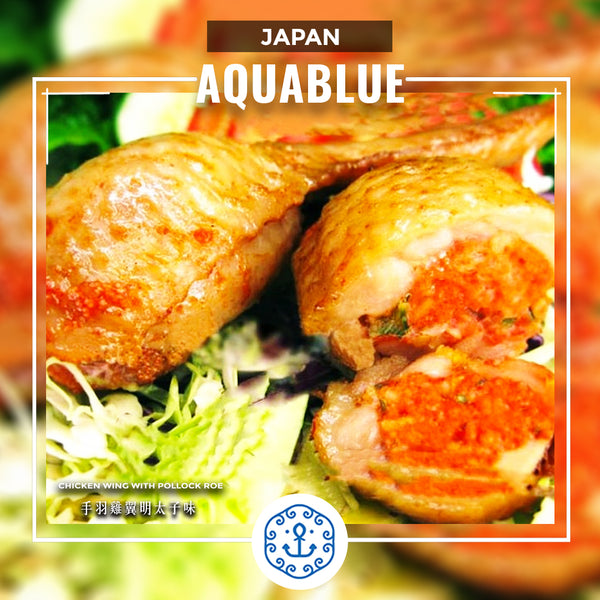 Manna J 手羽雞翼明太子味 500g [需烹調] | Japanese Manna J Chicken Wing with Pollock Roe 500g [Need to be cooked]