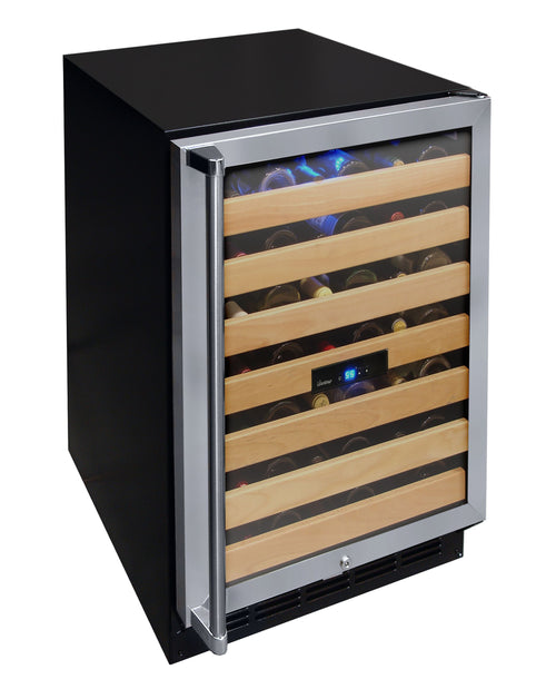 50-Bottle Wine Cooler with Interior Display
