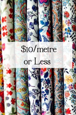 $10/metre or less sale fabric, sale patchwork fabric, sale quilting fabric