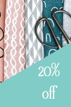 20% off fabric and sewing notions, sale fabric