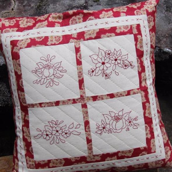 Rose Red Cushion PDF Pattern