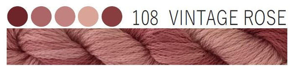 Cottage Garden Threads-CGT-108 Vintage Rose -6 Strand Cotton embroidery thread-Hand Dyed Thread-CGT thread hand dyed- quilting Australia