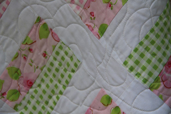Simple Chic Quilt- Handmade quilt - Girls Twin Quilt- Single Bed Quilt