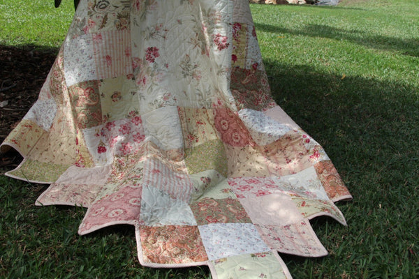 Vintage Garden Quilt PDF Pattern- Easy to Follow Pattern, Tutorial