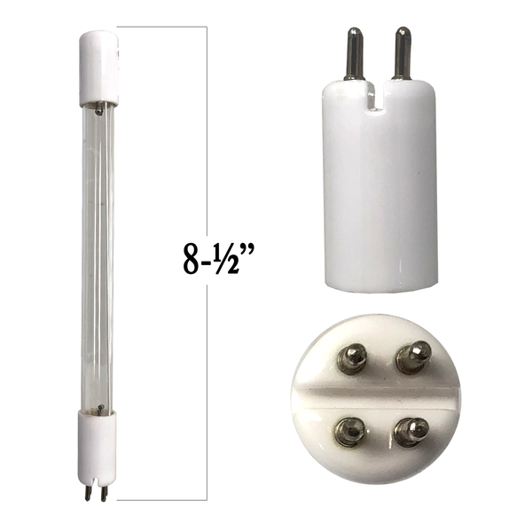 10 Watt UV Bulb T5 4-Pin With Slit In Base 8 7/8