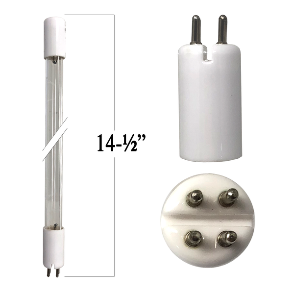20 Watt UV Bulb T5 4-Pin With Slit In Base 14 3/8
