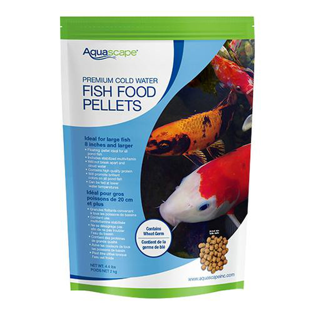 Aquascape Premium Cold Water Fish Food Large Pellet 4.4LB, 98872 - Pond Supplies 4 Less