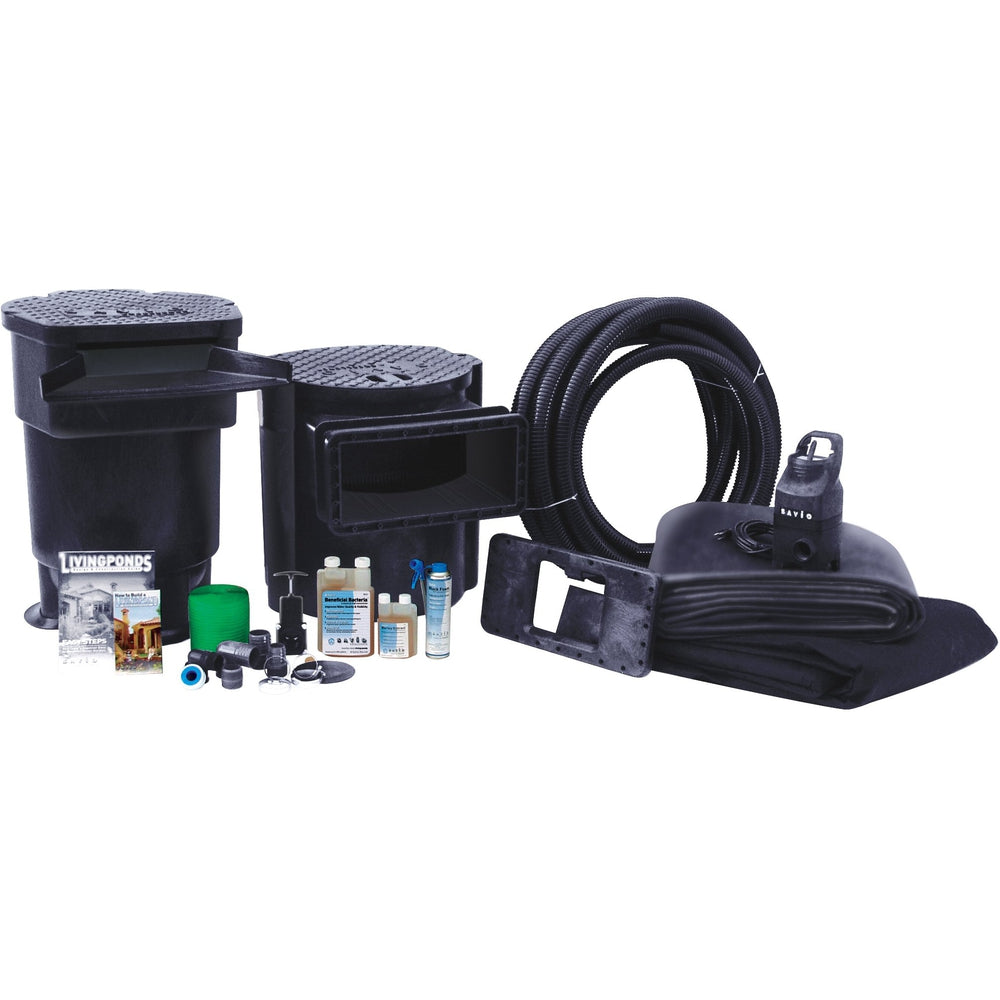 Savio 1500 Gallon 11 x 16 Pond Package With Large Skimmer & Filter, PP1500