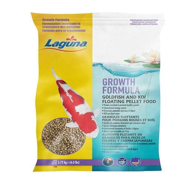 Laguna Growth Enhancing Goldfish & Koi Floating Fish Food Pellets 6 lb., PT137 - Pond Supplies 4 Less