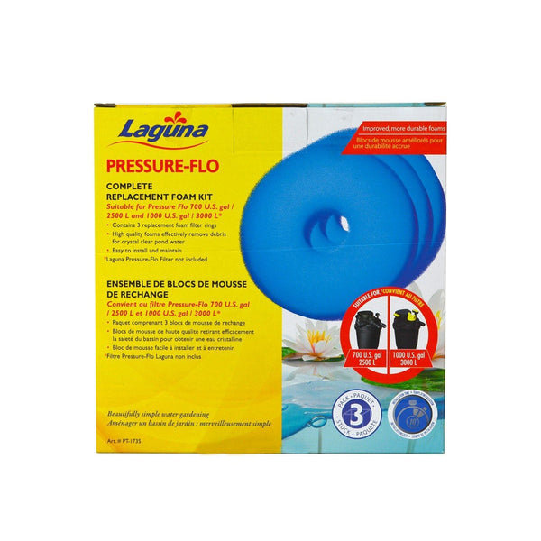 Laguna Pressure-Flo Replacement Foam 4 pack for Pressure-Flo 2000, PT1736 - Pond Supplies 4 Less