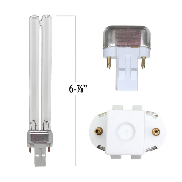 13 Watt Generic UV Bulb GX23 Base 2-Pin With 2 Connectors 6 7/8 Long (17.5 cm) - Pond Supplies 4 Less