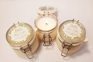 Mini Jar Natural Soy Wax Candle 100ml (Christmas Collection) - Houghton & Gough Lifestyles