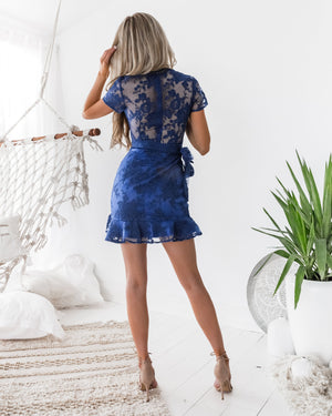 Evie Dress - Navy