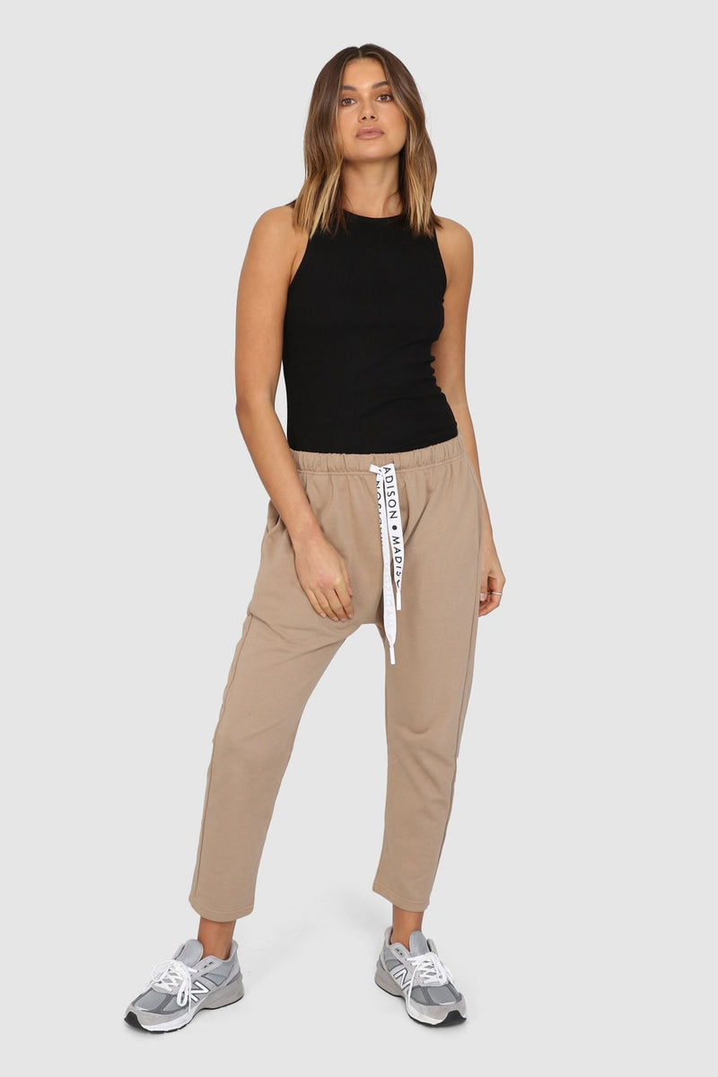Cody Drop Crotch Pants- Beige
