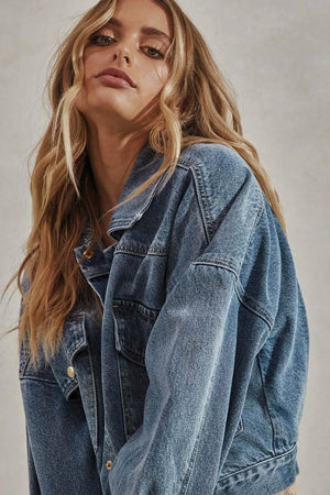 PRE ORDER - Laurent Denim Jacket- Blue Wash