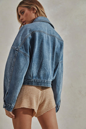 Laurent Denim Jacket- Blue Wash