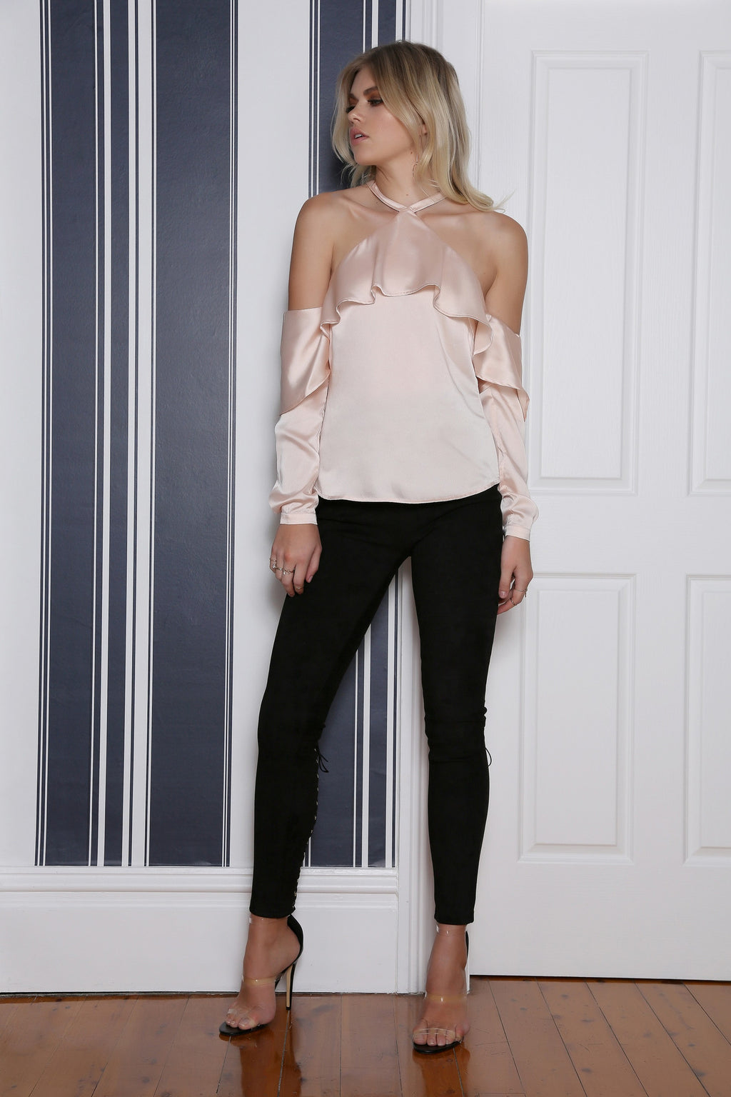 Mesmerise Top In Dusty Pink