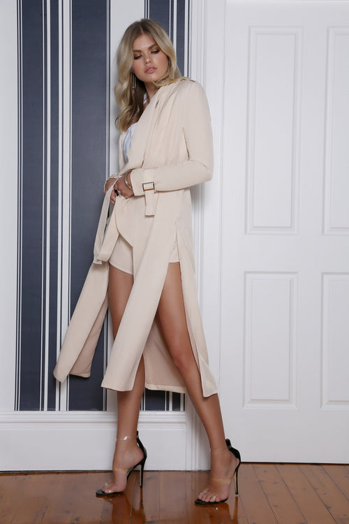 Evolve Duster Coat In Sand