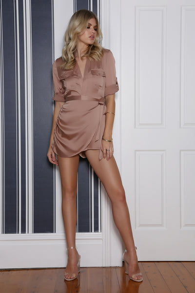 Siren Playsuit In Mocha