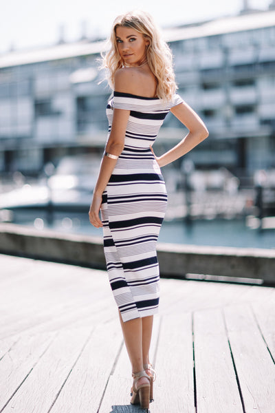 Lotus Dress - Stripe